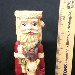 Holiday - Candlestick Skinny Santa and Reindeer